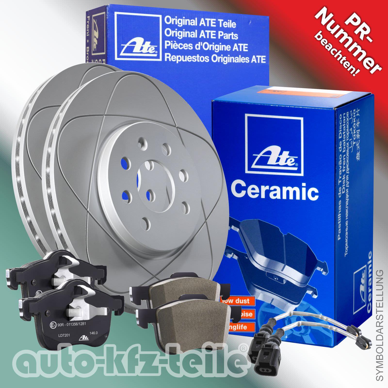 ATE 13.0470-7110.2 Bremsbeläge Ceramic Bremsklötze Vorne Audi A4 Avant Cabriolet