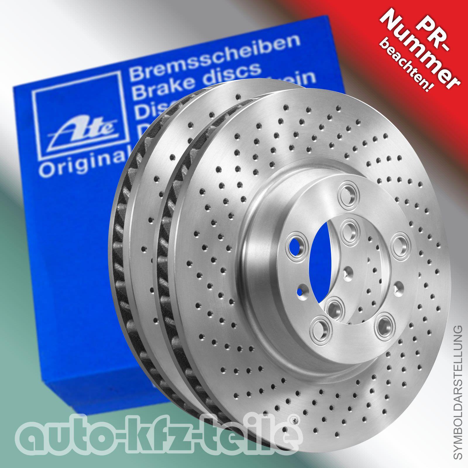 2 Zimmermann Bremsscheiben gelocht Fiat VA und HA