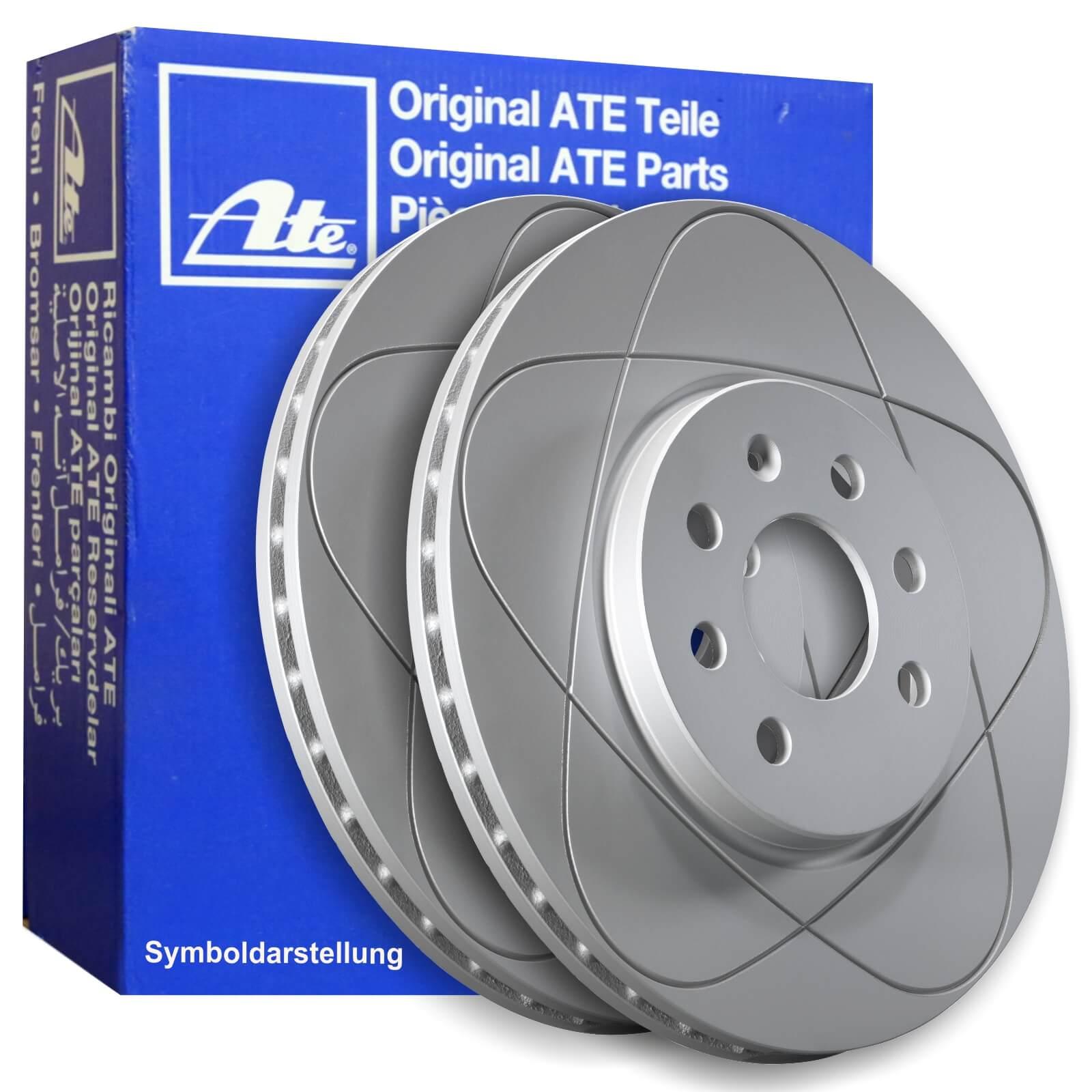 ATE Bremsscheiben 278mm belüftet mit Bremsbeläge für vorne Ford Focus III C-Max