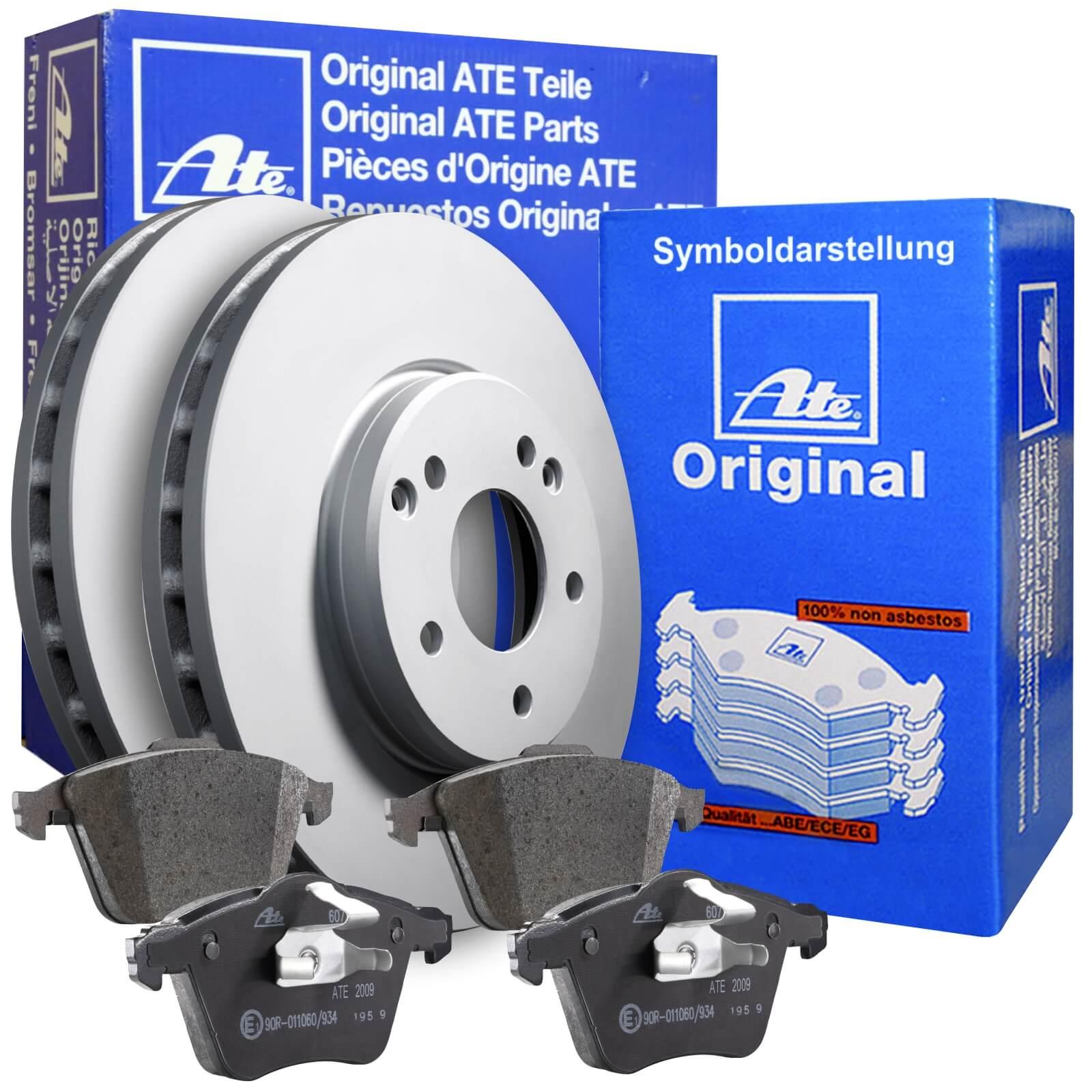 2x ATE Bremsscheiben vorne belüftet 280mm für RENAULT MEGANE 24.0124-0221.1