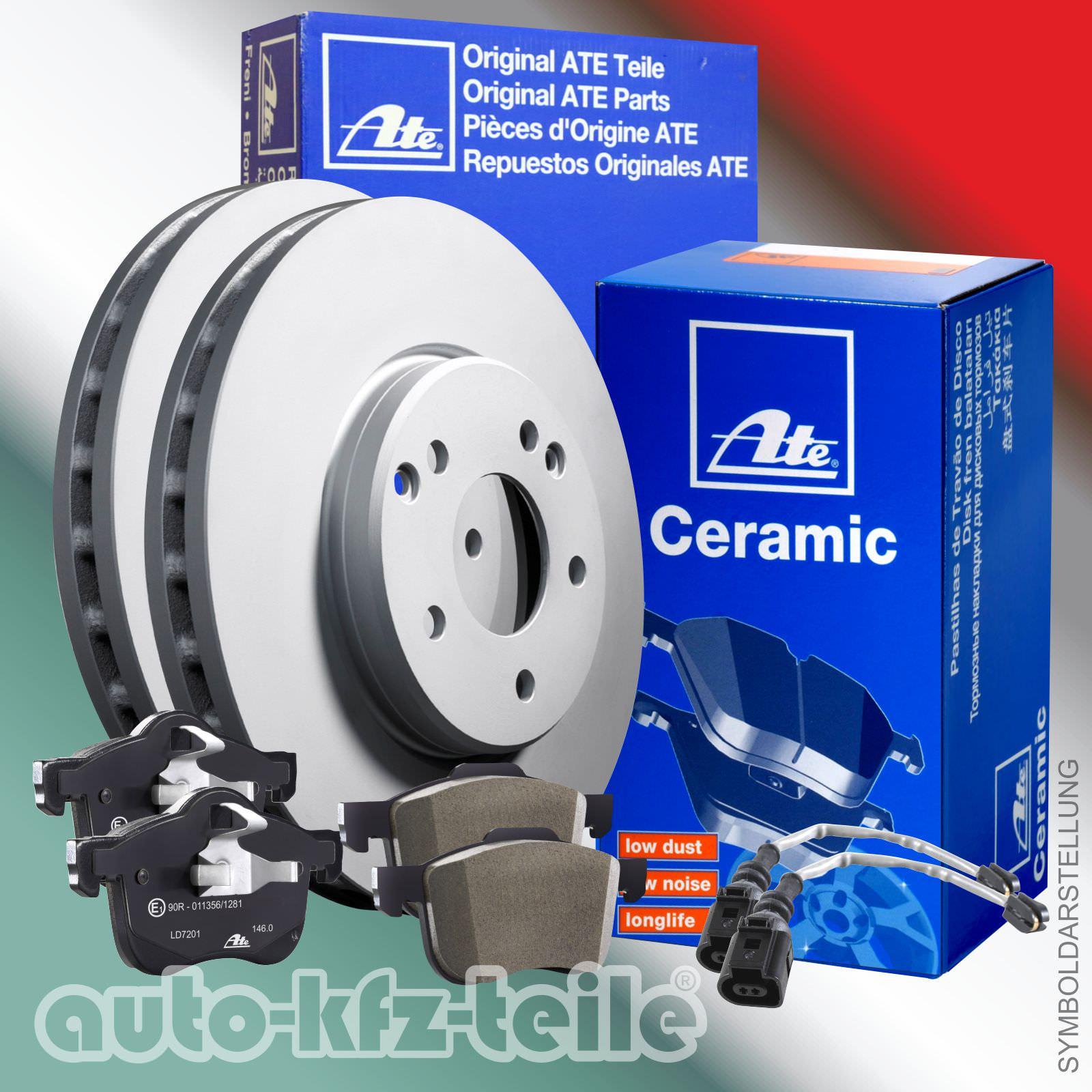 ATE Bremsenset Bremsscheiben Ø336 belüftet Bremsbeläge Ceramic WK hinten BMW 3er