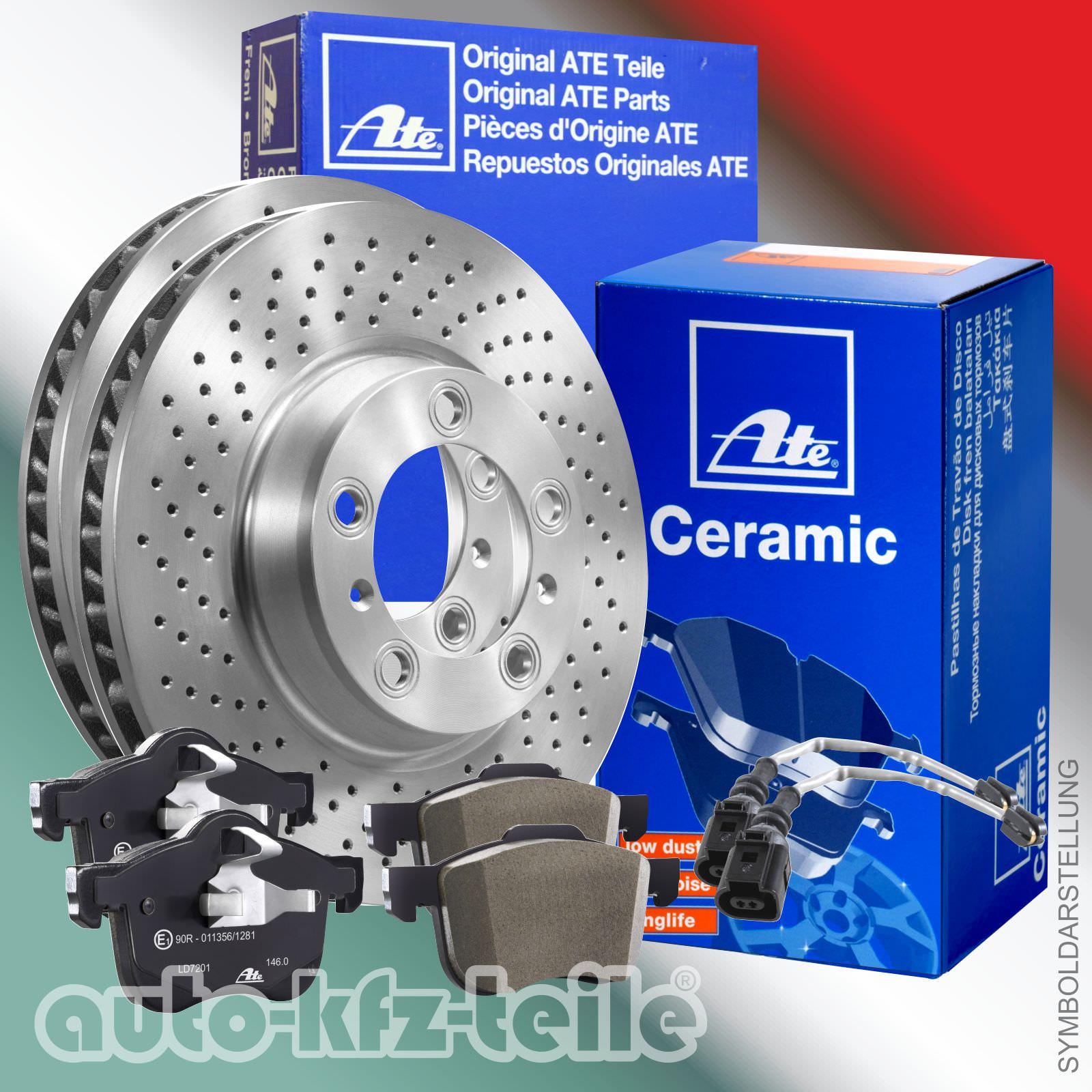 ORIGINAL ATE CERAMIC Bremsbeläge Bremsscheiben Mercedes C-Klasse  W203 Vorne SET
