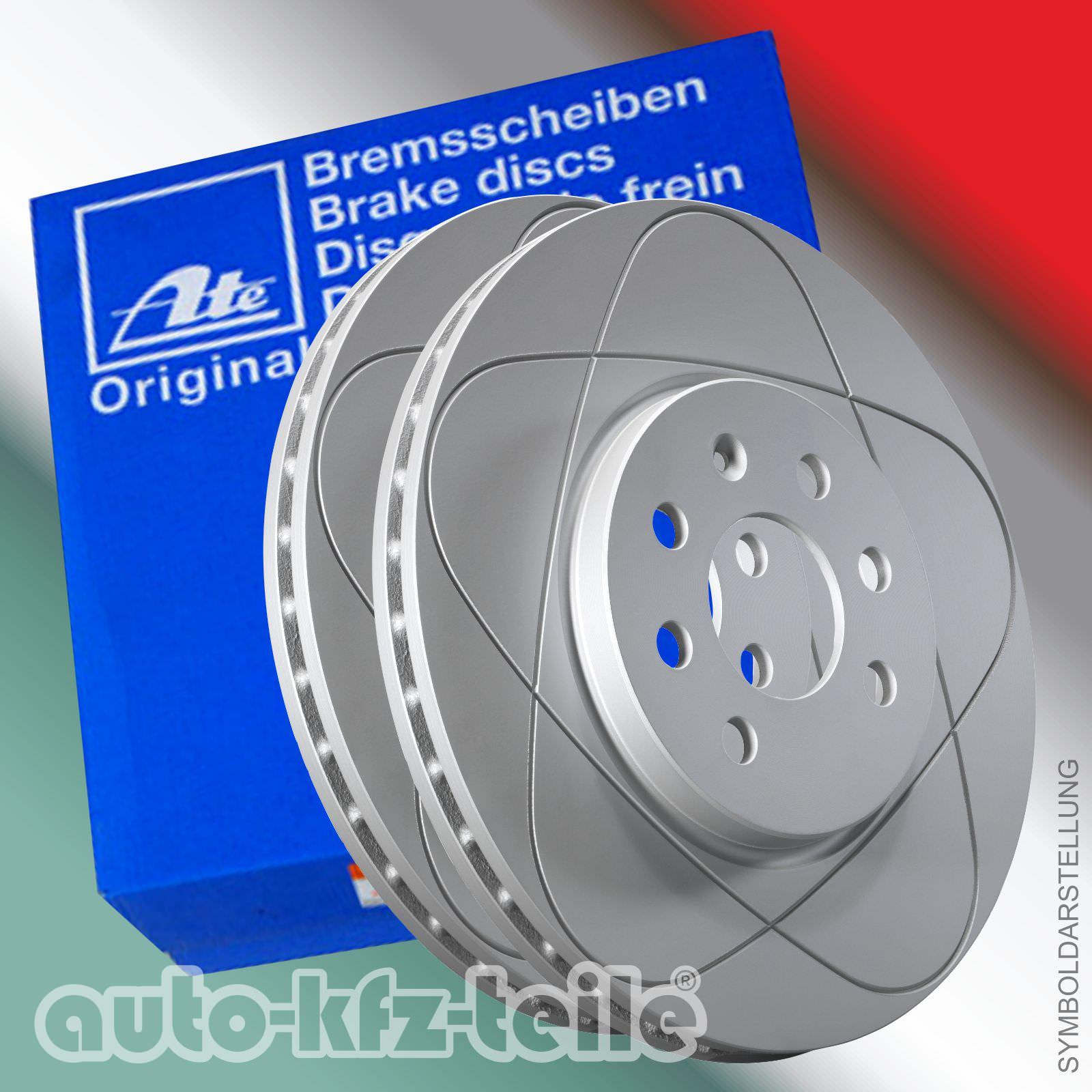 Bremsbeläge Warnkontakt VORNE Opel Astra G ATE PowerDisc Bremsscheiben 280mm