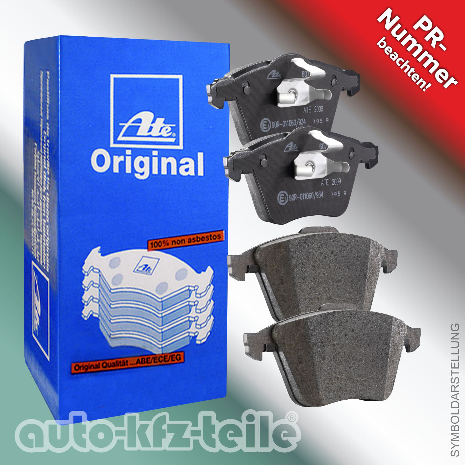 13.0460-2880.2 für VW SHARAN 7N1, 7N2 ATE Bremsbelagsatz Hinterachse HA