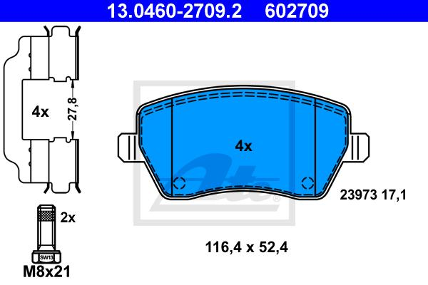 4x TEXTAR Bremsbeläge vorne für RENAULT CLIO MODUS DACIA LOGAN DUSTER 2397301