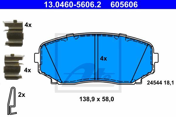 2x ATE Bremsscheiben hinten belüftet 324mm für MAZDA CX-7 CX-9 24.0118-0158.1